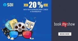 Bookmyshow Get 20% OFF with SBI Platinum Debit Cards
