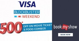 Bookmyshow Visa Signature Card Weekend Offer: Get Upto Rs. 500 OFF on Movie Tickets And Food Combos
