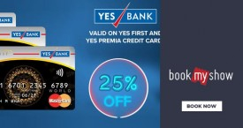 Bookmyshow 25% OFF on Yes First & Yes Premia Credit Card