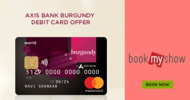 Bookmyshow Axis Bank Burgundy Debit Card Offer.