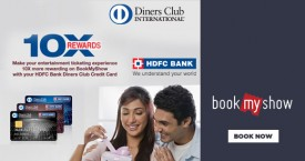 Bookmyshow HDFC Bank Diners Card 10X Rewards Offer