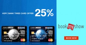 Bookmyshow Get 25% Off With HDFC Cards.