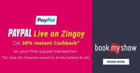 Bookmyshow Pay With Paypal: Get 50% Instant Cashback on First Order