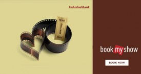 Bookmyshow Buy 1 Get 1 Free Movie Ticket on Induslnd Debit Card.