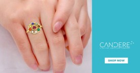 Candere Gemstone Women Rings - Under  Rs. 20000