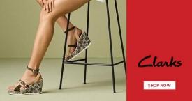 Clarks Mega Deal : Upto 40% Off on Women's Footwear