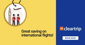 Cleartrip Grab Upto Rs. 15,000 instant cashback on International Flights from India!