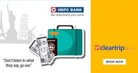 Cleartrip Enjoy Upto Rs. 10000 Cashback on Flights & Hotels With HDFC Bank Credit Cards!
