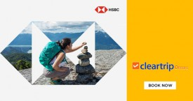 Cleartrip Upto Rs. 2,800 instant savings on Domestic Flights & Hotels with HSBC Credit Cards!
