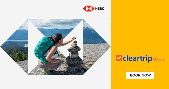 Upto Rs. 2,800 instant savings on Domestic Flights & Hotels with HSBC Credit Cards!