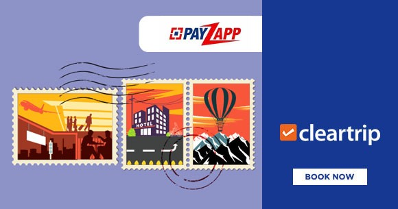 Best Price : Rs.1,000 cashback on Cleartrip Activities, Flights & Hotels with PayZapp