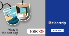 Cleartrip HSBC Offer : Upto Rs.2800 Instant Savings on Domestic Flights And Hotels