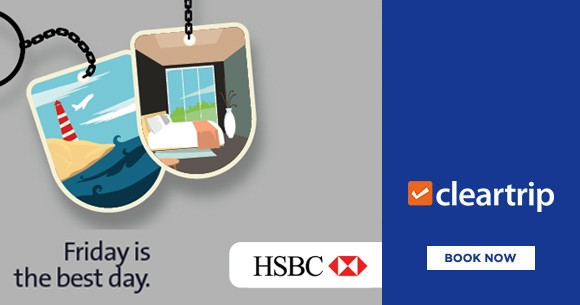 HSBC Offer : Upto Rs.2800 Instant Savings on Domestic Flights And Hotels