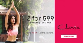 Clovia Great Deal : 2 Camisoles at Rs. 599