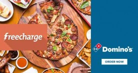 Dominos pizza Freecharge Offer : Get 10% Cashback on Paying Via Freecharge