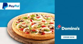 Dominos pizza Paypal Offer : Get Instant Cashback Of Rs.150 on First Order Through Paypal