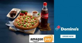 Dominos pizza Amazon Pay Offer : Get 30% Cashback Upto Rs. 75