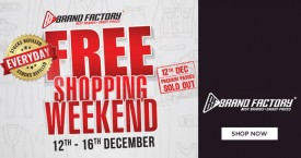 Brand factory Brand Factory Offer : Free Shopping Weekend