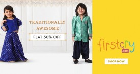 Firstcry Flat 50% OFF on Traditionally Awesome Wear