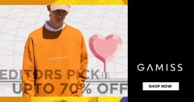 Gamiss Editor Picks : Get Upto 70% OFF on Apparels