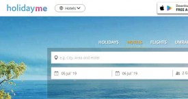 Holidayme GET 5% Off for Hotel Bookings