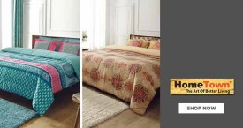Home town Best Price : Living Essence Double Bed Sheets Starting At Rs. 599