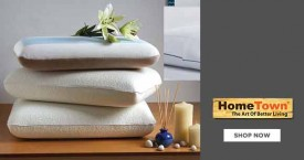 Home town Best Price : Get 50% OFF on Memory Foam Pillows
