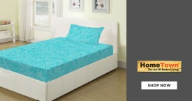 Home town Living Essence Double Bedsheets Starting At Rs. 599