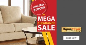 Hometown Clearance Sale : Upto 70% Off on Furniture, Home Decor, Kitchenware, Tableware etc.