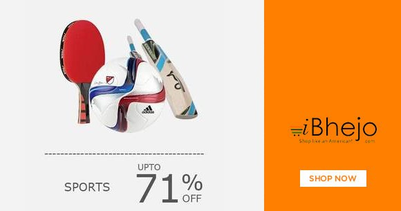 Best Offer : Upto 71% Off on Sports Items