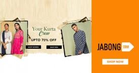 Jabong Jabong Deal : Upto 70% OFF on Men's & Women's Kurtas