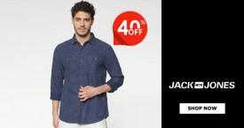 Jack and jones Mid Season Sale : Upto 40% Off on Jeans, T-shirts, Shirts, Jackets etc