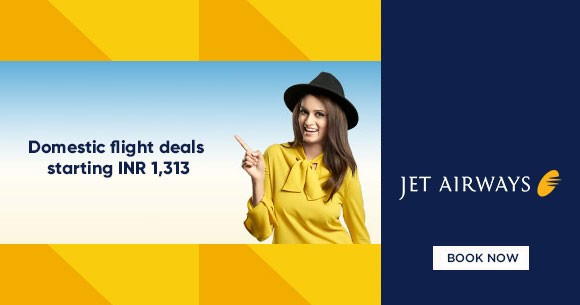 Jet Airways Offer : Domestic Flight Deals Starting At Rs.1313