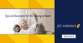 Jetairways Hot Deal : Get Flat 8% OFF For Senior Citizens