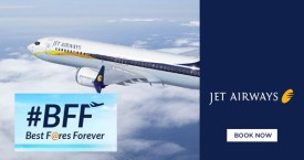 Jetairways Best Fares Forever Offer : Save Upto Rs.200 on Domestic Flights   Rs.400 on International Flights