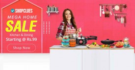 Shopclues Upto 80% Off on Wall Decoratives, Curtains & Kichen Products.