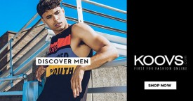 Koovs Men's Apparels And Accessories - Upto 20% OFF
