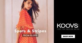 Koovs Spots & Stripes Dresses - Rs. 899 Onwards