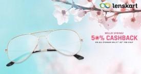 Lenskart Best Offer : 50% Cashback on all Eyewear (21 Feb to 28 Feb '21)