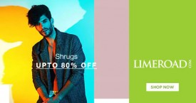 Limeroad Amazing Offer : Men's Shrugs Upto 80%  OFF