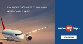 Makemytrip YES Bank Offer : Get Upto Rs.8000 Instant Discount on International Flights