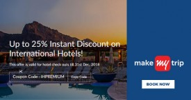 Makemytrip Upto 25% Instant Discount on International Hotels