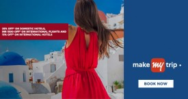 Makemytrip MMT American Express Offer: Get Rs. 10,000 OFF on Domestic & Rs. 25,000 OFF on International Hotels