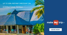 Makemytrip American Express Card Offer : Upto 25% OFF on International Hotels