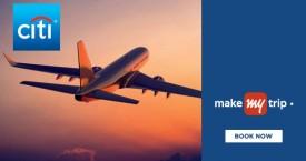 Makemytrip MMT Citi Bank Offer : Get Rs.1200 OFF on Domestic Flights