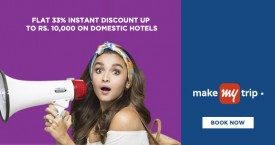 Makemytrip MMT Offer : Get 33% Instant Discount Upto Rs. 10,000 on Domestic Hotels