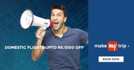 Makemytrip Domestic Flights Upto Rs. 1000 OFF