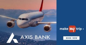 Makemytrip Axis Bank Offer : Upto Rs.1500 Cashback on Domestic Flights | Wednesday Offer