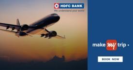 Makemytrip HDFC Bank Debit Cards : Domestic Flights Flat 10% Cashback Upto Rs. 1500
