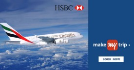 Makemytrip HSBC Credit Cards : Flat Rs. 1,000 instant discount on Domestic Flights
